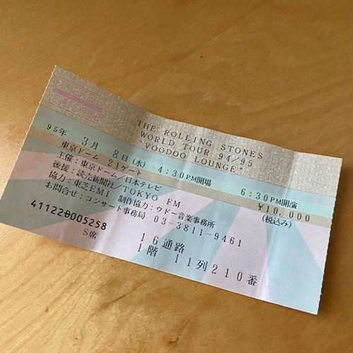 ストーンズ・チケット